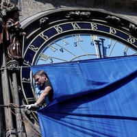 Prague's 608-year-old clock astronomical clock returns to Czech capital