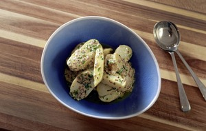 James St Cookery School: Warm potatoes with mustard, new potatoes with yoghurt