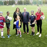 School children celebrate opening of new pitches in east Belfast