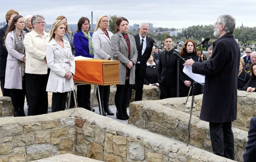 Oration at Milltown by Gerry Adams at republican funeral of Tish Holland