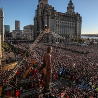 Giant puppets attract more than one million visitors