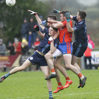 Conall McCann the hero for Killyclogher as they sink Ardboe
