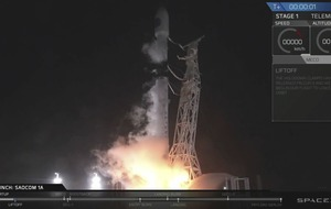 SpaceX rocket carrying Argentinian satellite takes off