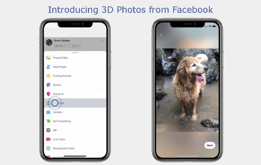 Facebook introduces 3D photos in News Feed,VR