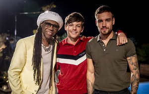 Nile Rodgers and Liam Payne join Louis Tomlinson in X Factor judges' house stage