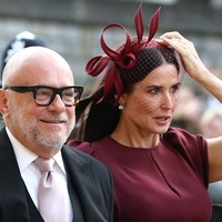 Demi Moore joins Instagram and shows off her royal wedding outfit