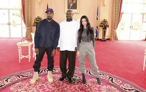 In Video: Kanye West meets the Ugandan president… and gives him trainers