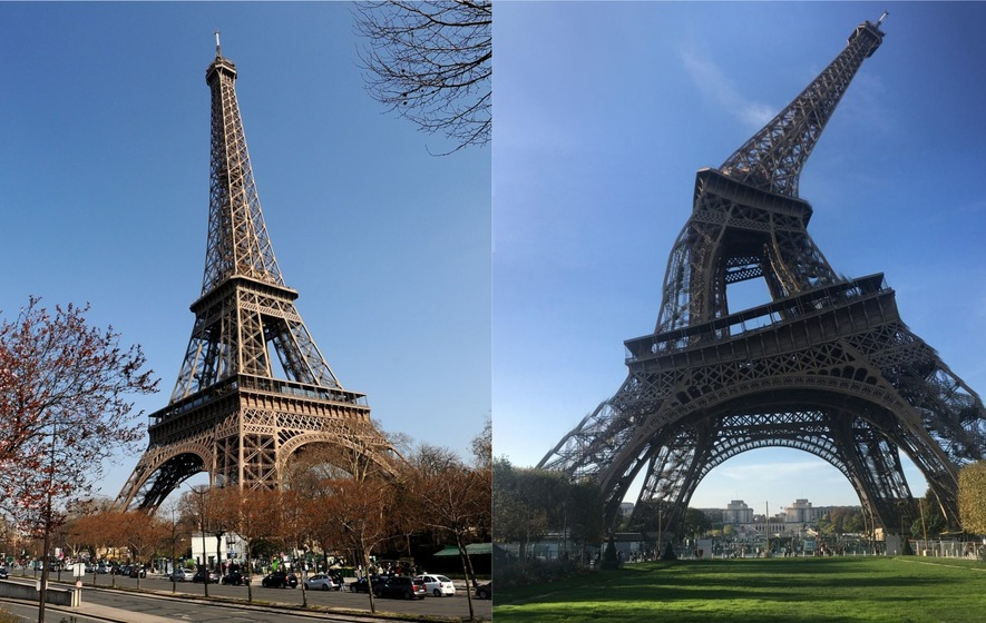 A Tourist Got This Picture Of The Eiffel Tower And The