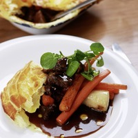 James St Cookery School: Game pie and chicken and leek pie