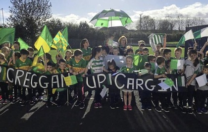 Co Antrim schoolkids show their colours ahead of football final