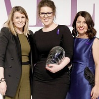 Monica McWilliams and Lisa McGee pick up awards