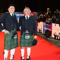 Stars wear kilts in Laurel and Hardy red carpet tribute
