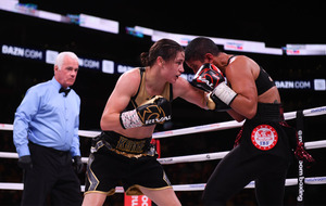 Katie Taylor defends titles against back-pedalling Cindy Serrano