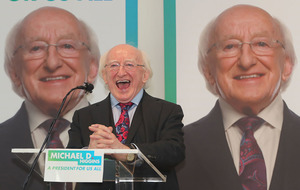 Michael D Higgins says he used private jet to visit Belfast following advice from his office