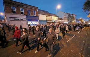 Shankill bomb and Troubles atrocities commemorated with procession