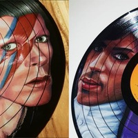 Artist creates stunning portraits with coloured pencils on second-hand vinyls