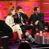 Eddie Redmayne forced to wear leg brace after spraining ankle on film set