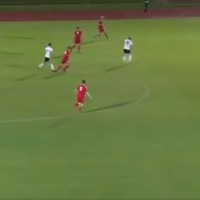 Watch Gateshead's kitman score a screamer from the halfway line
