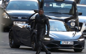 Idris Elba in Glasgow for film shoot
