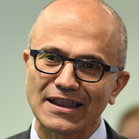 Microsoft boss urges tech and world leaders to work together to help vulnerable