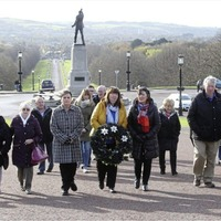 Families of the Disappeared stage silent walk at Stormont