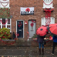 Home-made poppies go on show as residents join forces for Armistice Day