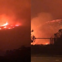 California wildfires: Dramatic video shows devastation as thousands flee
