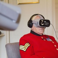 Chelsea Pensioners try out WWI VR prom experience ahead of Armistice Day