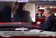 Video: Sammy Wilson suffers 'technical issues' during BBC interview