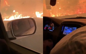 California wildfires: Footage gives terrifying perspective of evacuation