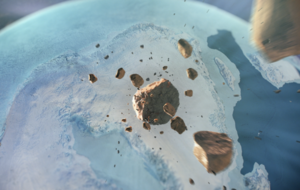 Giant meteorite crater 'bigger than Paris' found beneath Greenland