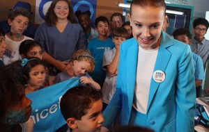 Millie Bobby 'Blue' stars in Unicef video for World Children's Day