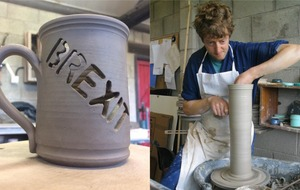 Brexit mug with holes in it brings fame to witty Yorkshire pottery