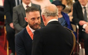 CBE honour for Hollywood hardman Tom Hardy