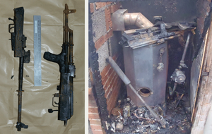 Dissident weapons linked to attacks on police discovered after west Belfast boiler fire
