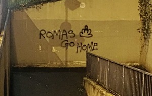 Police probe 'hate crime' after offensive graffiti daubed on wall in Ballymena