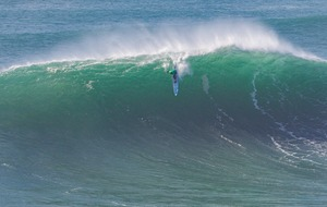 Watch the most incredible wipe-outs from the WSL Big Wave surfing competition