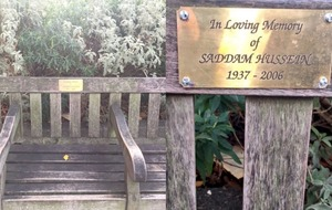 Memorial plaque in east London dedicated to Saddam Hussein removed by council
