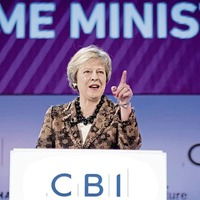 May tells business leaders her plan is best for jobs