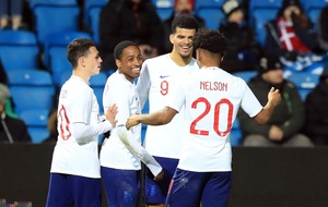 Watch Dominic Solanke's 'swanky' backheel chip for England U21s