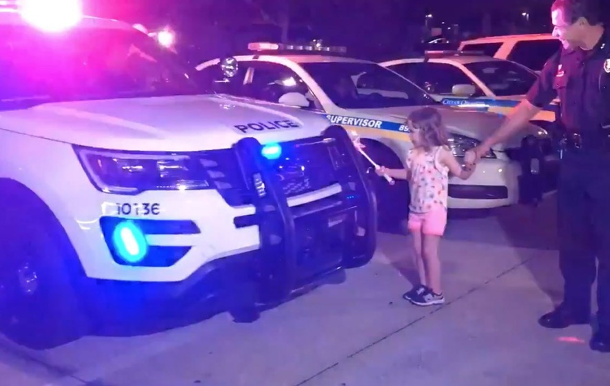Watch This Cute Kid Lighting Up Police Cars By Magic The