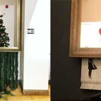 Banksy-inspired shredded Christmas tree is a real work of art