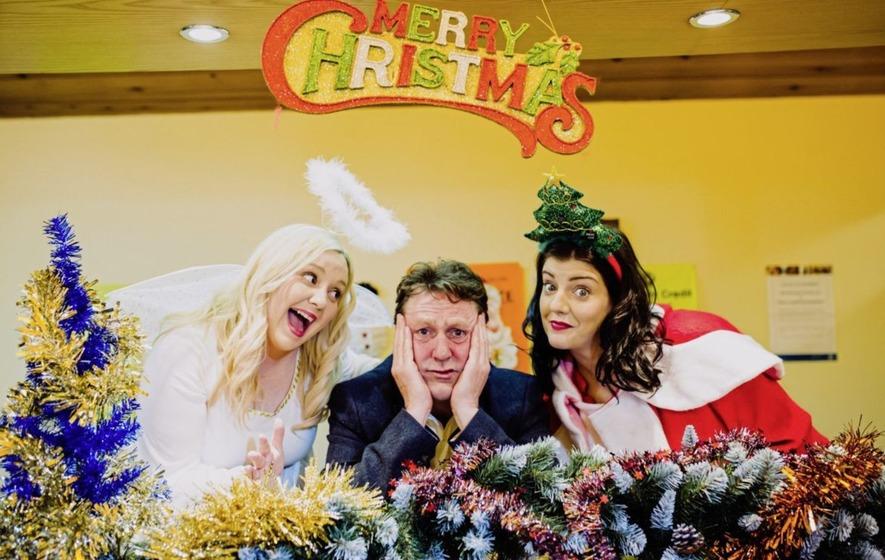Caroline Curran and Julie Maxwell transport Jimmy Stewart Christmas ...