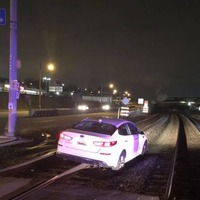 Woman whose car got stuck on railway tracks: The sat nav told me to do it