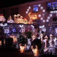 Eye-catching Christmas decorations bring 'light' to car crash victim