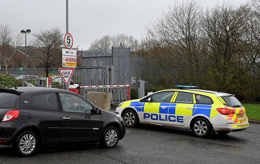 Suspicious package containing white powder at Newtownabbey