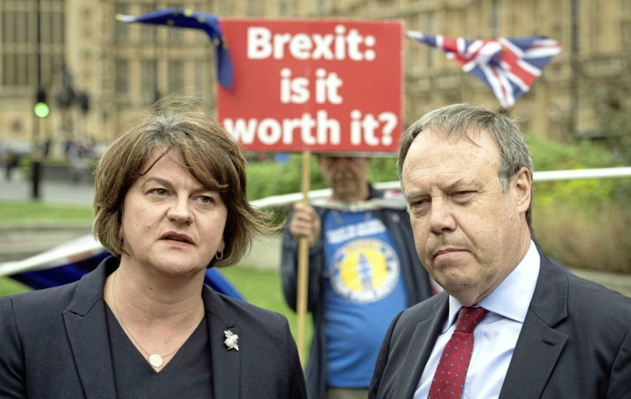 DUP leader Arlene Foster and party deputy leader Nigel Dodds