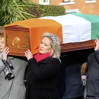 Sinn Fein's Michelle O'Neill among hundreds who attended the funeral of Belfast republican Annie Cahill