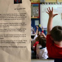 Teacher tells class to donate to foodbank instead of buying her gifts