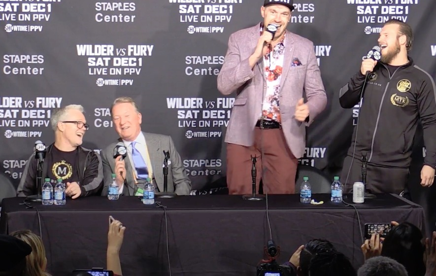 Tyson Fury has previous when it comes to singing after boxing matches